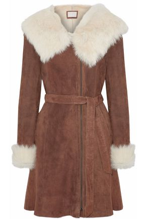 SOIA & KYO Belted shearling coat