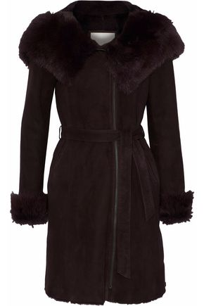 SOIA & KYO Shearling hooded coat
