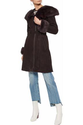 SOIA & KYO Gilma shearling hooded coat
