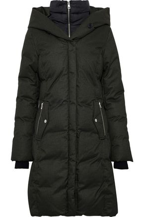 SOIA & KYO Delfina quilted shell down hooded coat