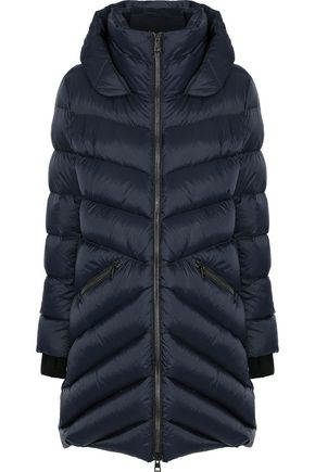 SOIA & KYO Monia quilted shell down hooded coat