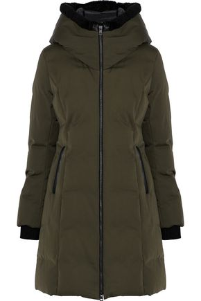 SOIA & KYO Faux fur-trimmed cotton-shell hooded down coat