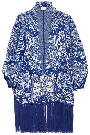 CAMILLA Poets Sanctuary embellished jacquard-knit jacket