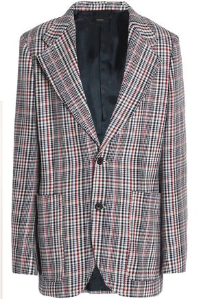 JOSEPH Prince of Wales checked cotton blazer