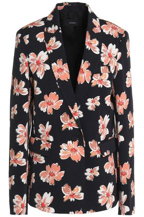 JOSEPH Floral-print wool-gabardine blazer