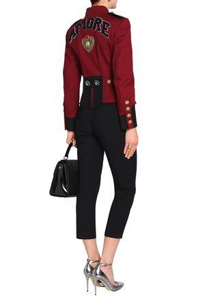 DOLCE & GABBANA Embellished cotton-blend gabardine jacket