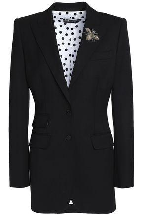DOLCE & GABBANA Appliquéd wool-blend blazer