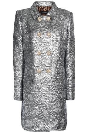 DOLCE & GABBANA Double-breasted metallic brocade coat
