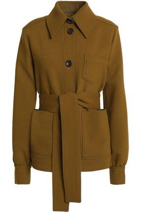 JOSEPH Belted crepe jacket