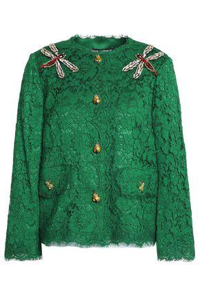 DOLCE & GABBANA Appliquéd corded lace jacket