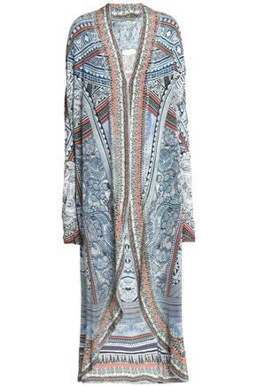 CAMILLA Printed silk-blend kaftan