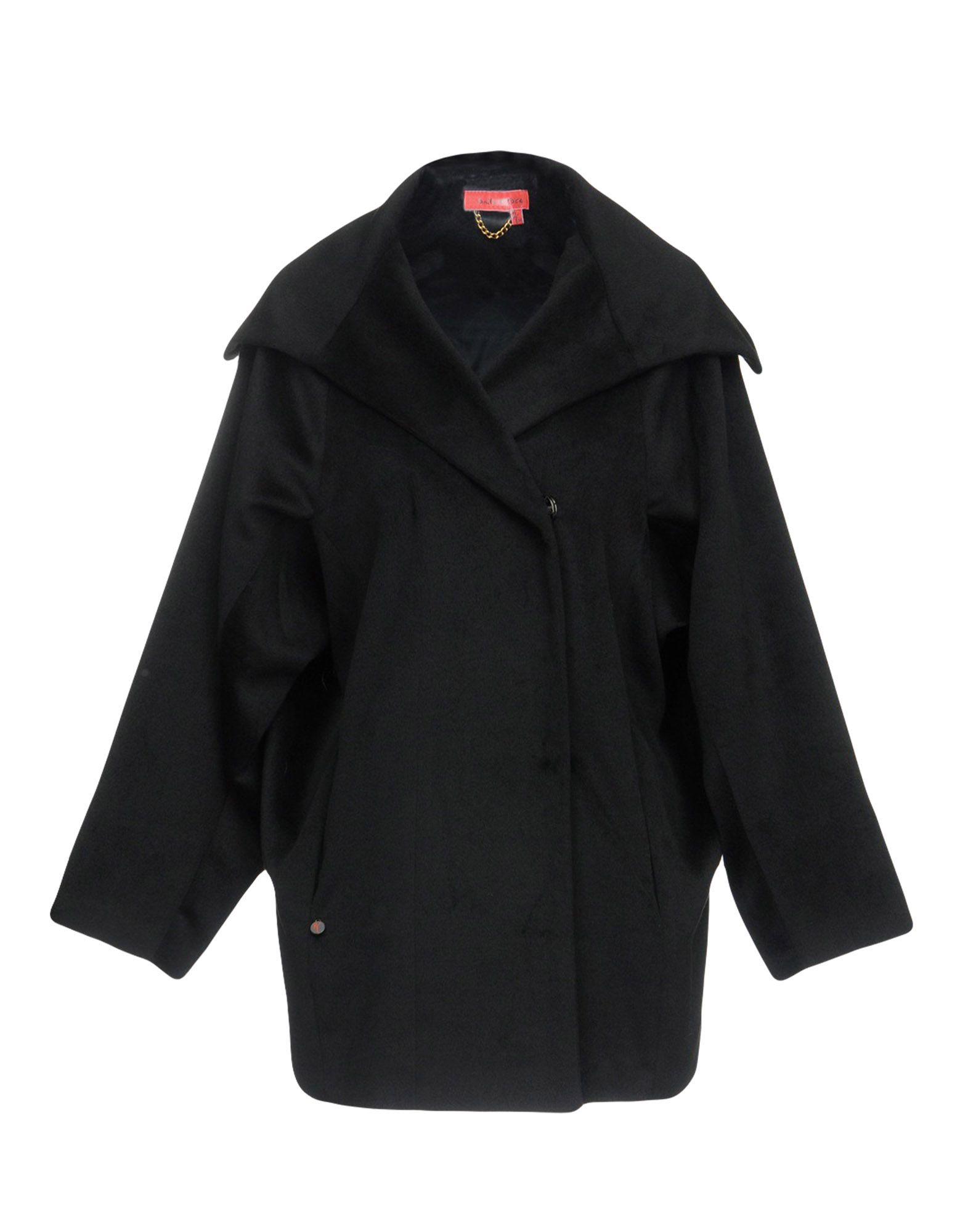 《セール開催中》MANILA GRACE DENIM レディース コート ブラック 40 ポリエステル 100%