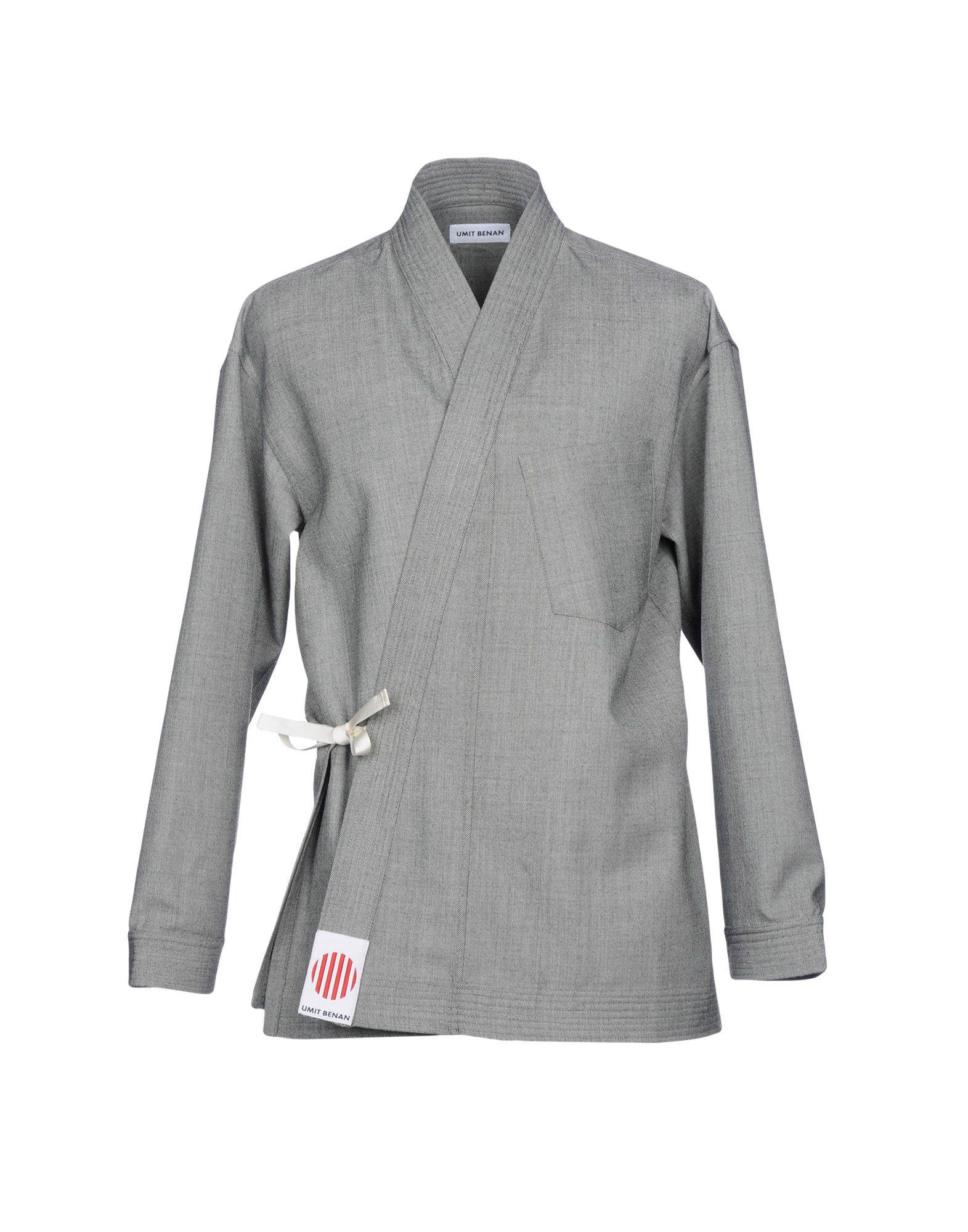 《送料無料》UMIT BENAN メンズ ライトコート ブラック 50 バージンウール 100%