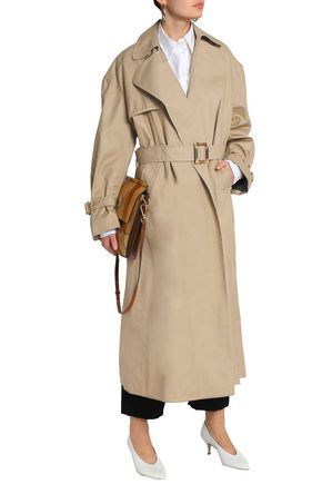 ELLERY Illustrated Woman cotton-gabardine trench coat