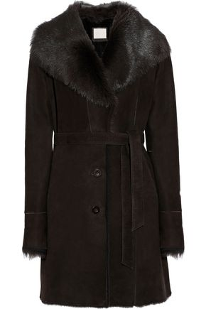 SOIA & KYO Marielle belted shearling coat