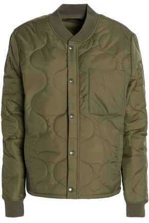 MOTHER Quilted shell bomber jacket