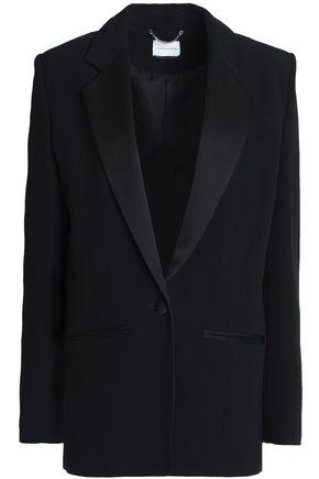MAGDA BUTRYM Satin-paneled crepe blazer