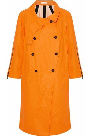 TOMAS MAIER Coated  linen and cotton-blend raincoat