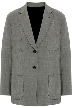 GIORGIO ARMANI Houndstooth stretch wool-blend blazer