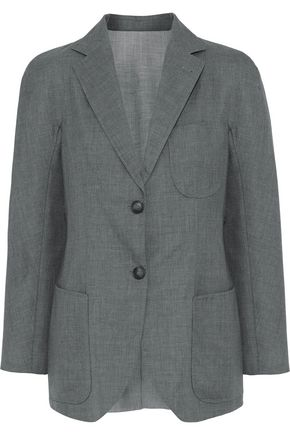 GIORGIO ARMANI Mélange wool and silk-blend woven blazer
