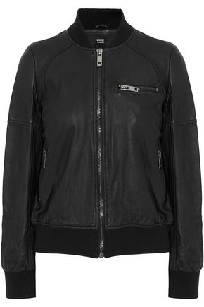 LINE Leather bomber jacket