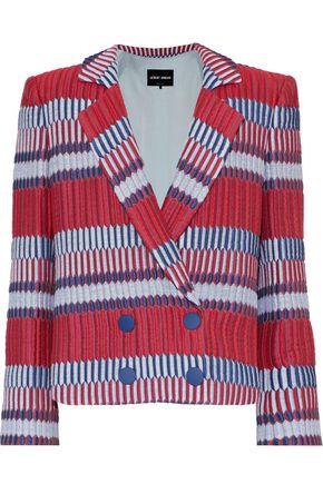 GIORGIO ARMANI Double-breasted cotton-blend cloqué jacket