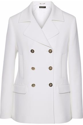 VERSACE Double-breasted wool-twill blazer