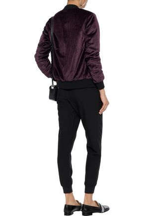 LINE Velvet bomber jacket