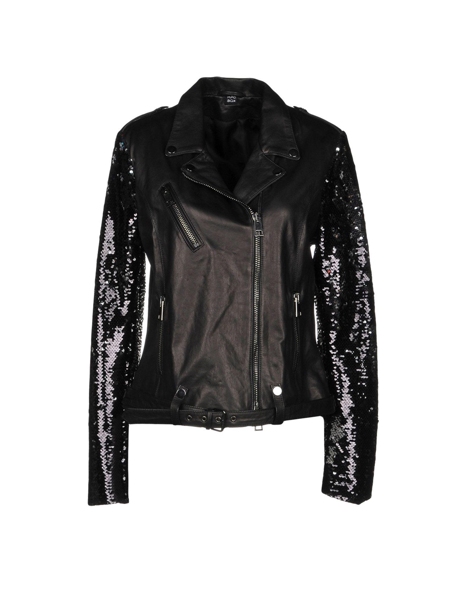 MPD BOX Biker Jacket in Black