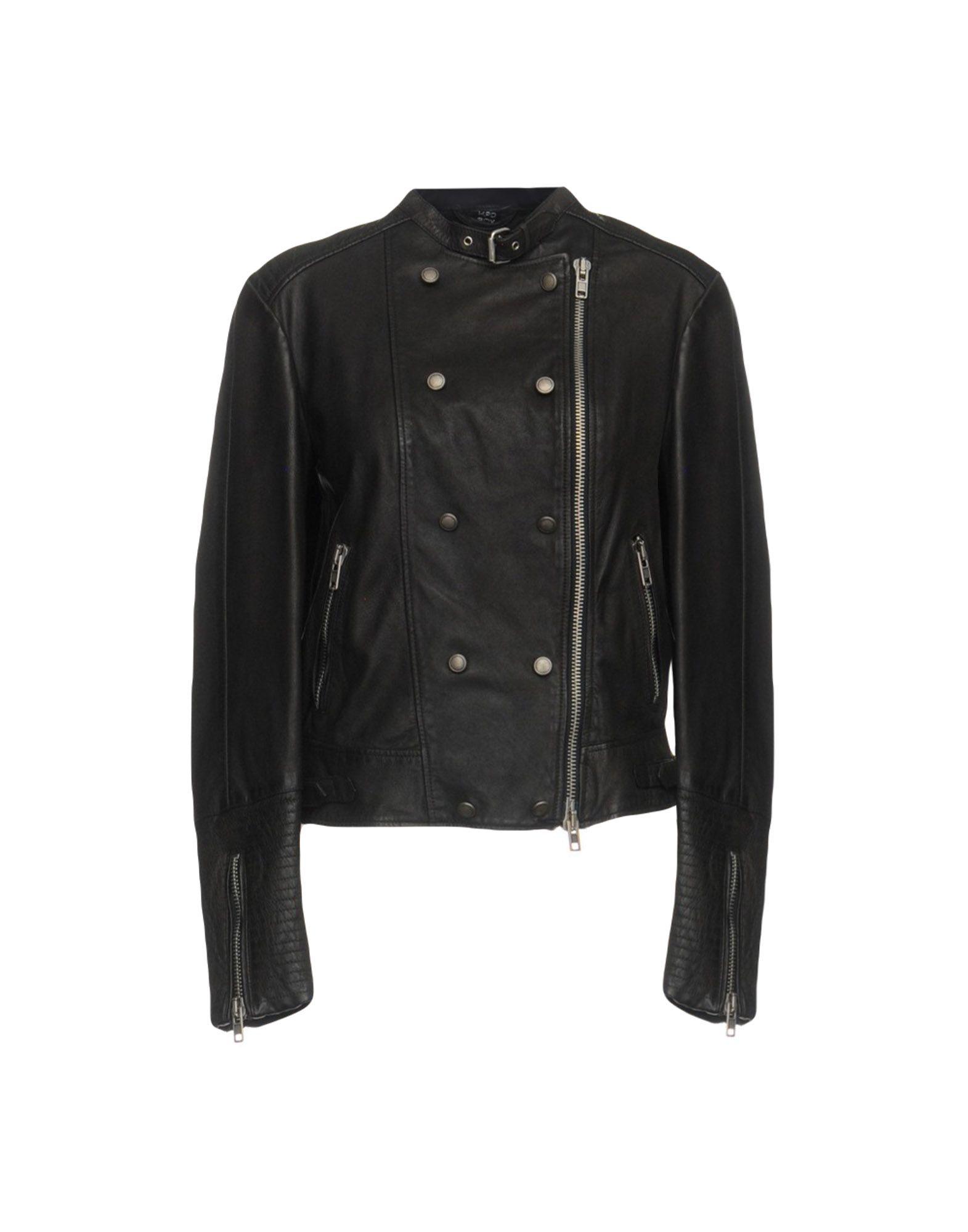 MPD BOX Biker Jacket in Dark Brown