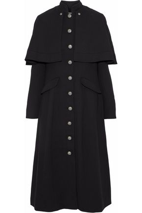 CINQ À SEPT Martinella layered twill coat