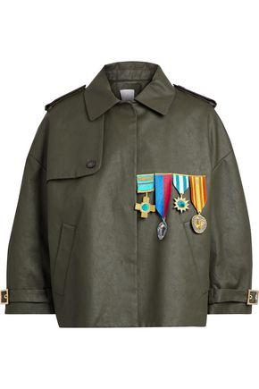 STELLA JEAN Appliquéd coated cotton-twill jacket
