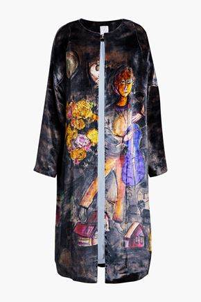 STELLA JEAN Printed velvet coat