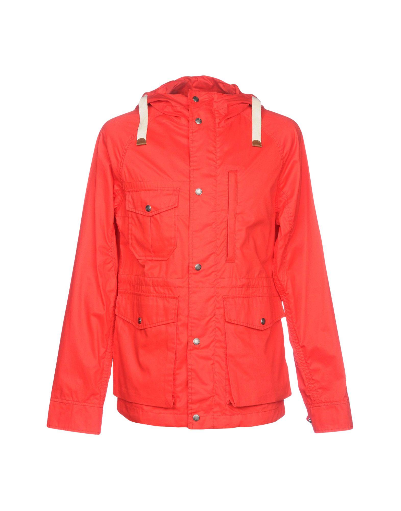 WOOLRICH Легкое пальто woolrich красная хлопковая парка с мехом