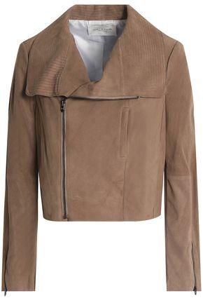 HALSTON HERITAGE Suede biker jacket