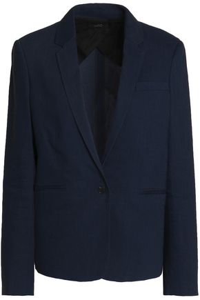 WOMAN WILL LINEN-BLEND BLAZER MIDNIGHT BLUE