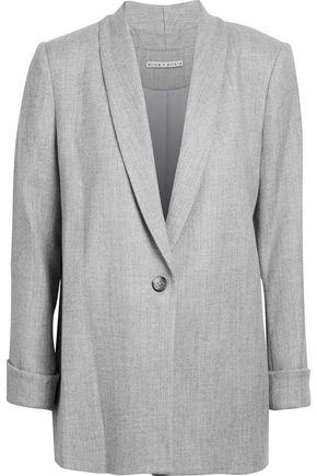 ALICE + OLIVIA Marled brushed woven blazer