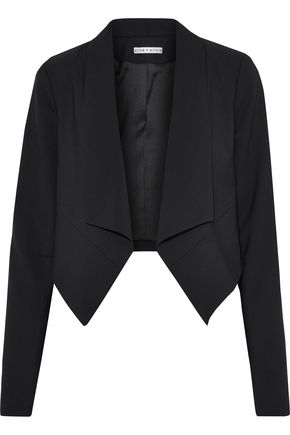 ALICE + OLIVIA Harvey cropped stretch-wool blazer