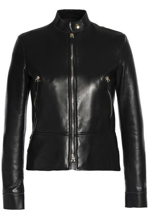 VALENTINO Embellished embroidered leather jacket