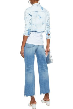 L'AGENCE Zuma cropped bleached denim jacket