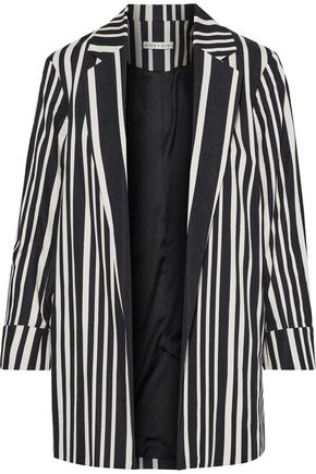 ALICE + OLIVIA Neta striped cotton-blend jacket