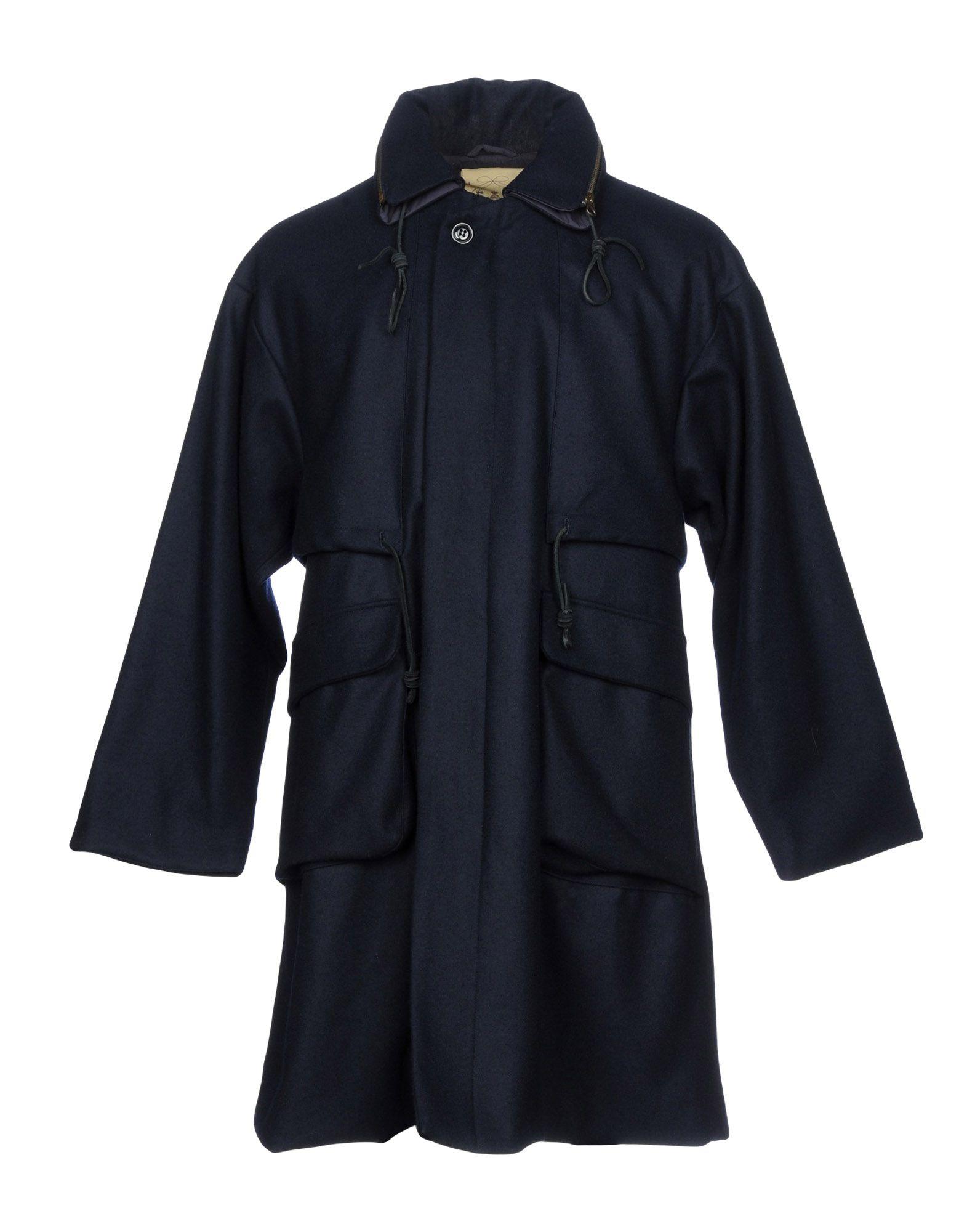 MONITALY Coat in Dark Blue
