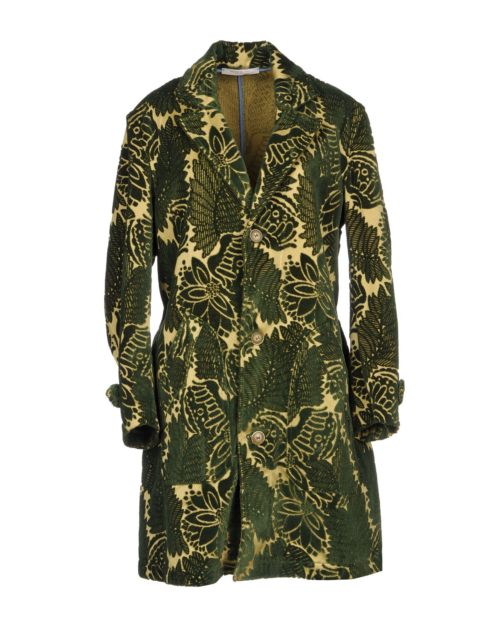 ERMANNO GALLAMINI Full-Length Jacket in Green