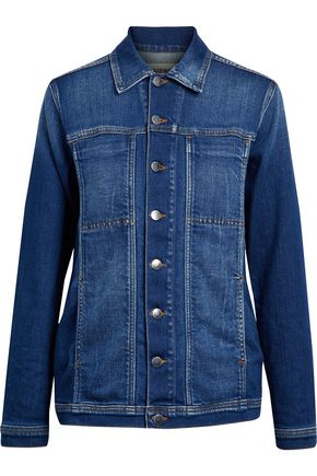 WOMAN FADED DENIM JACKET MID DENIM