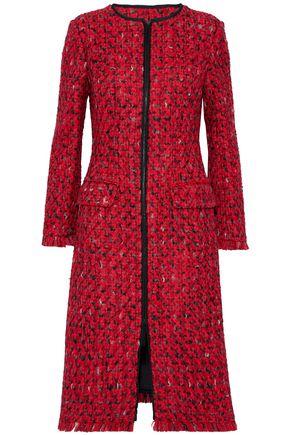 OSCAR DE LA RENTA Wool and cotton-blend bouclé-tweed coat