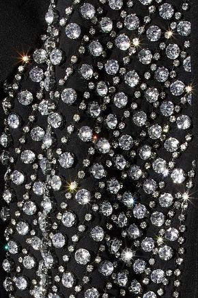 ALICE + OLIVIA Jace crystal-embellished crepe jacket