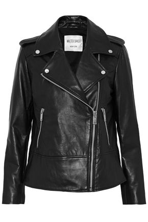 W118 by WALTER BAKER Norris studded leather biker jacket