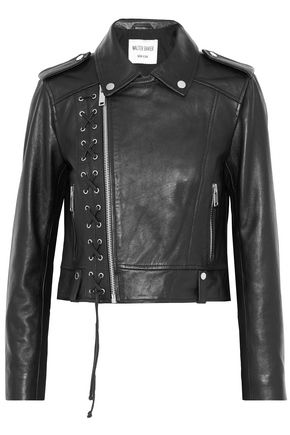 W118 by WALTER BAKER Annarae lace-up leather biker jacket