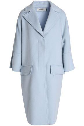 MARNI Brushed wool, angora and cashmere-blend coat