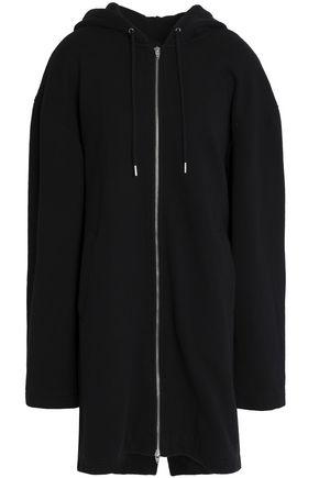 T by ALEXANDER WANG Cotton-blend jersey hooded coat